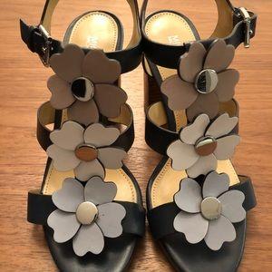 Michael Kors Navy Flower Sandals